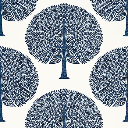 Thibaut Mulberry Tree Wallpaper in Navy